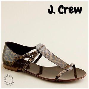 J. CREW Iris tortoise sandals size 9 EUC